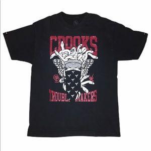 Crooks & Castles Medusa Streetwear T Shirt Mens L